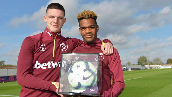 Declan Rice and Grady Diangana each received a Premier League Debut Football