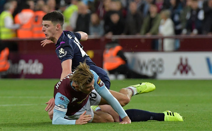 Declan Rice's battle with Jack Grealish was an enthralling spectacle