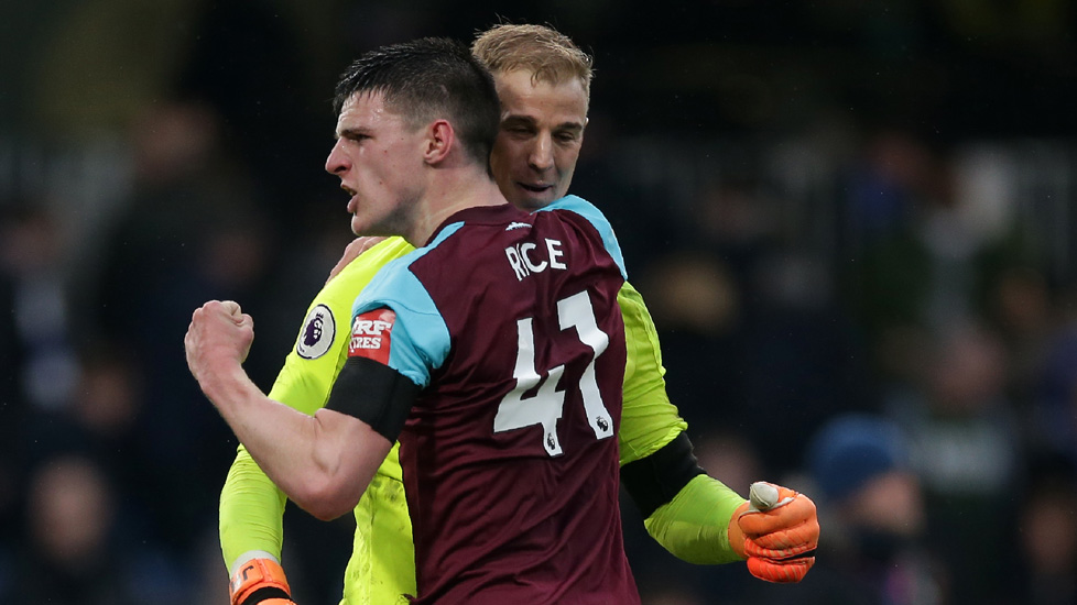 Declan Rice and Joe Hart