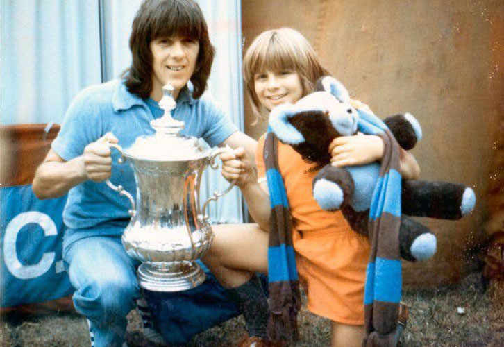 Tony Rivers and son Anthony with the FA Cup trophy