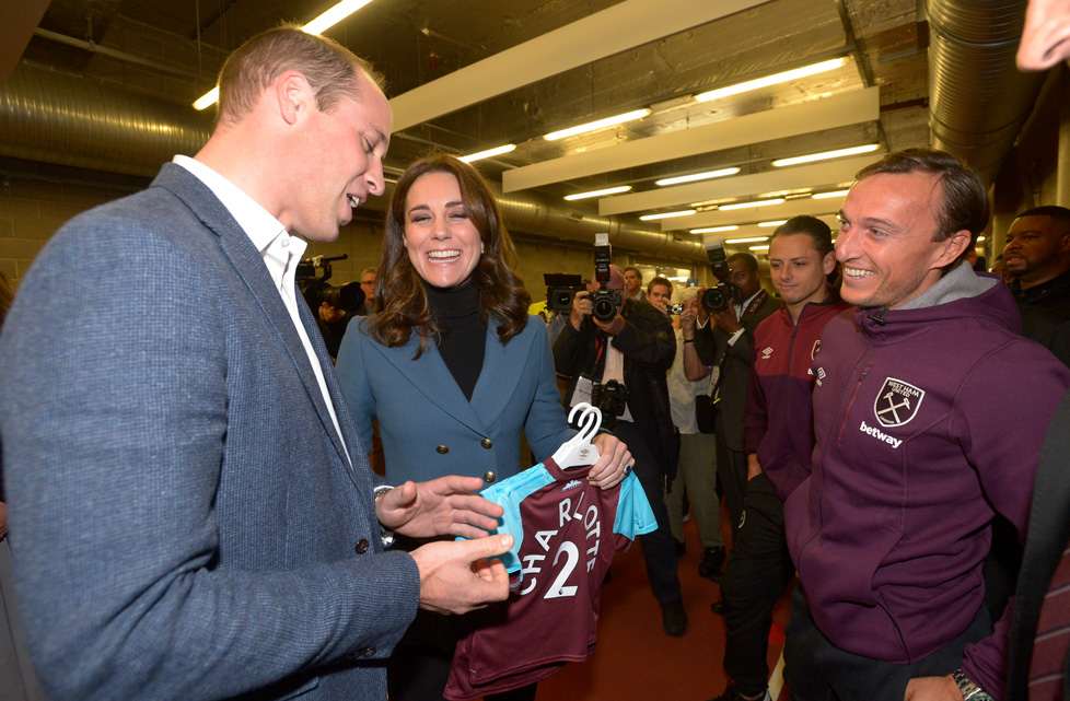 Mark Noble meets the Duke and Duchess of Cambridge