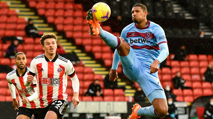 Haller in action at Sheffield United