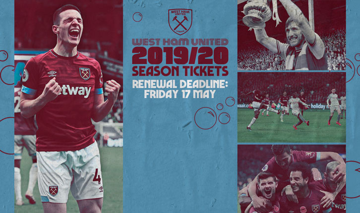 2019/20 Season Ticket renewals