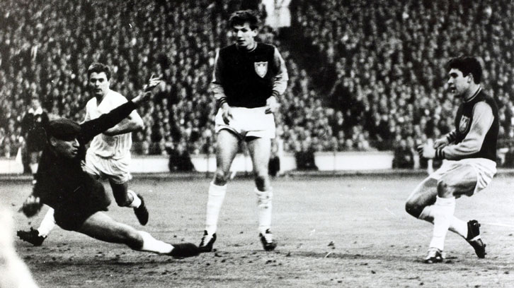 Alan Sealey scores one of his two goals