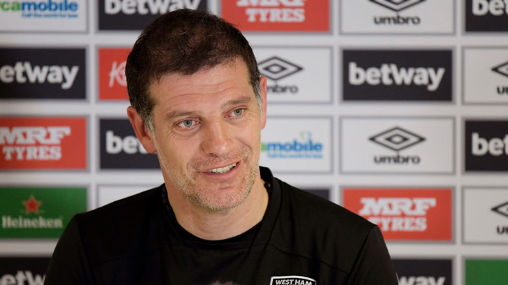 Slaven Bilic chats to a press conference