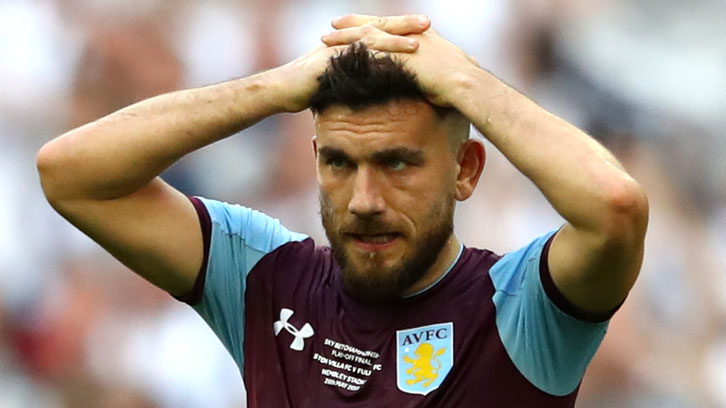Robert Snodgrass was left gutted by Aston Villa's 2018 Championship Play-Off final defeat