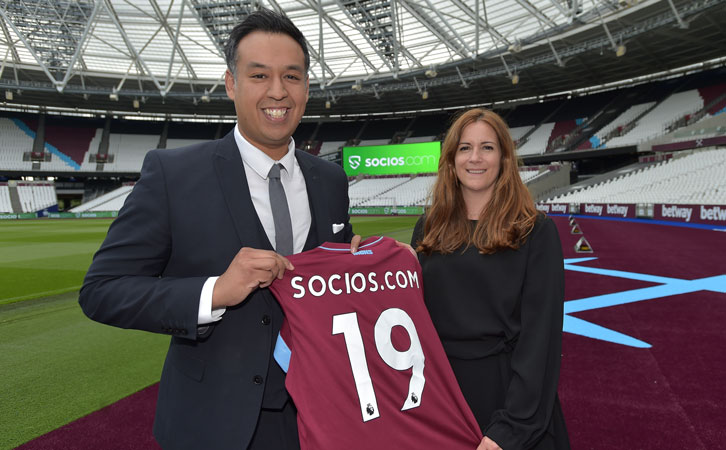 West Ham United engage partnership with Socios.com​    ​