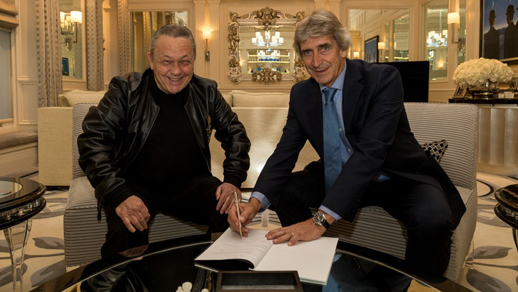 David Sullivan welcomes Manuel Pellegrini