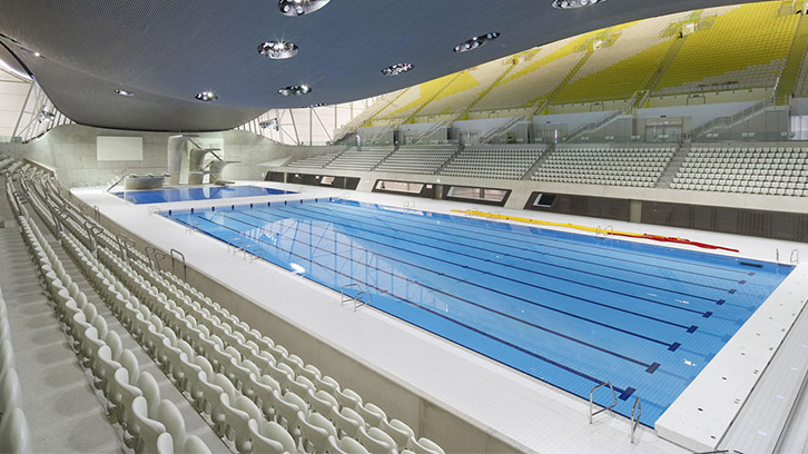 The Olympic Pool at Queen Elizabeth Olympic Park where Swimathon 2017 will be held.