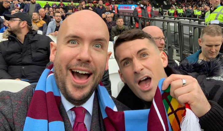 Comedian Tom Allen (left) joined Pride of Irons at London Stadium