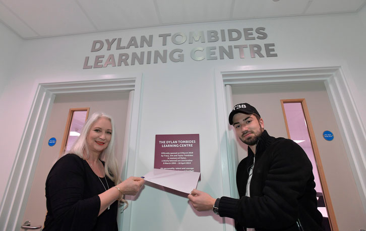 Tracy and Taylor Tombides opened the Dylan Tombides Learning Centre earlier this year