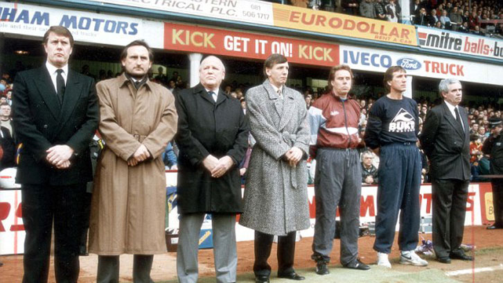Bobby Moore's former teammates paid tribute to him in 1993