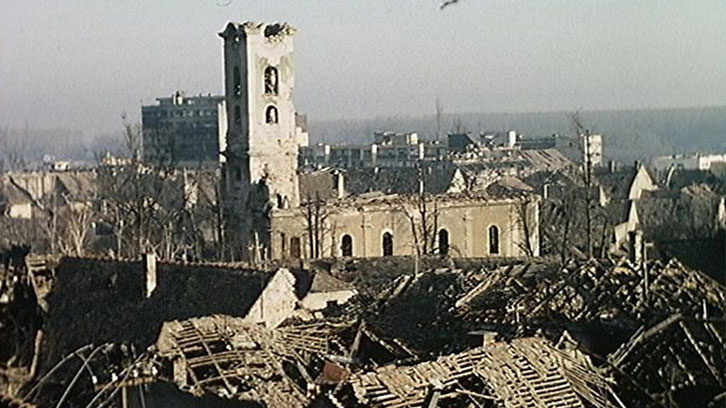 Vukovar was left badly damaged by bombing which lasted for nearly three months