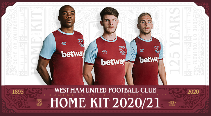 West Ham United reveal Commemorative 125th Anniversary Umbro Home kit