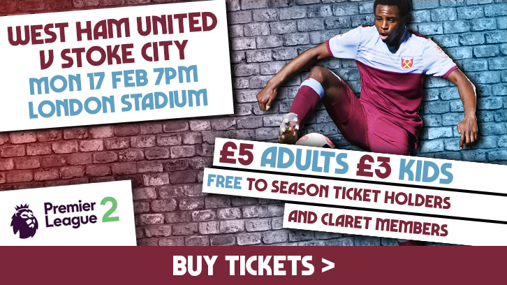 Buy West Ham United U23s v Stoke City U23s tickets