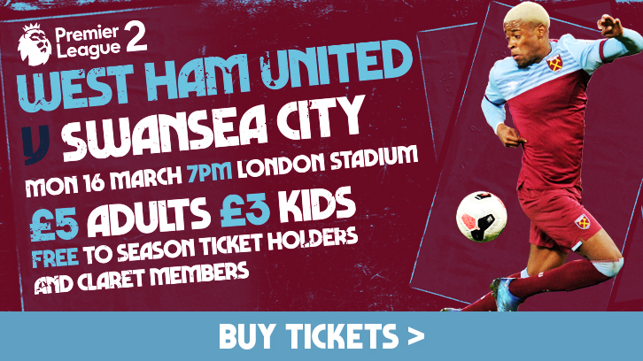 West Ham v Swansea tickets