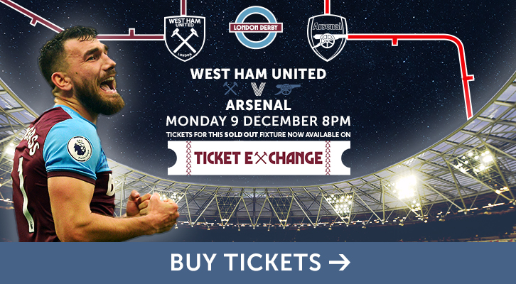 Buy tickets to West Ham against Arsenal on ticket exchange