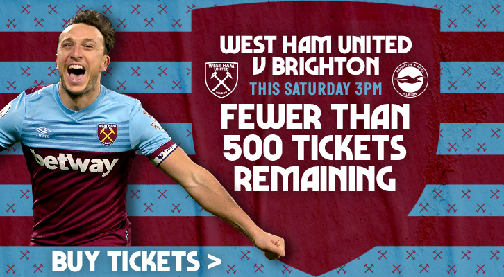 Buy tickets to West Ham v Brighton