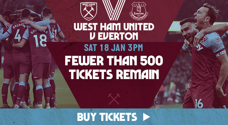 Buy tickets to West Ham United v Everton