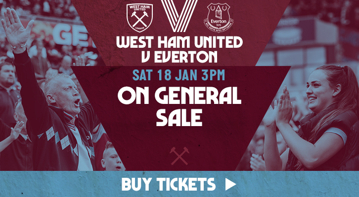 West Ham United against Everton tickets