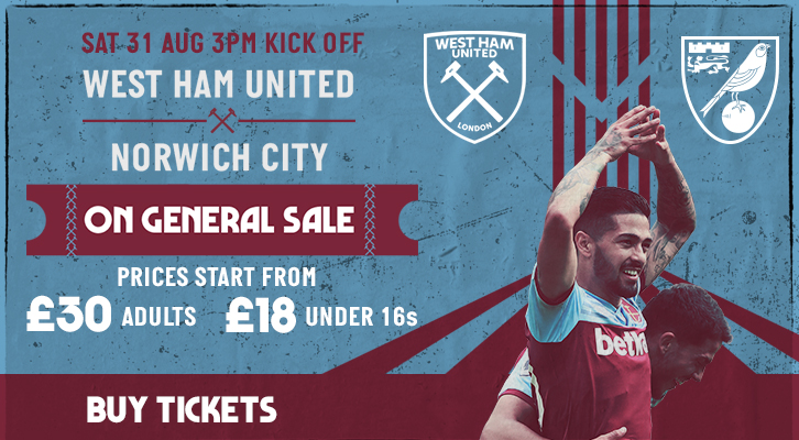 Norwich City tickets general sale promo