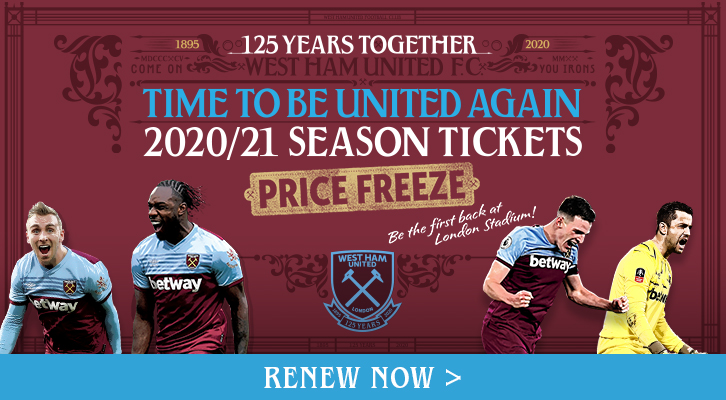 Season Ticket renewals open for 2020/21 Premier League season