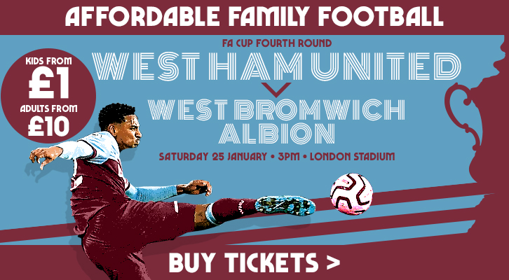 Buy West Ham United v West Brom tickets