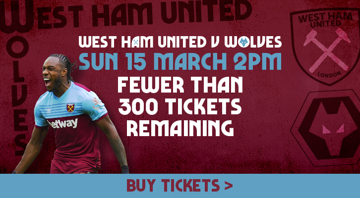Less than 300 Wolves tickets remain