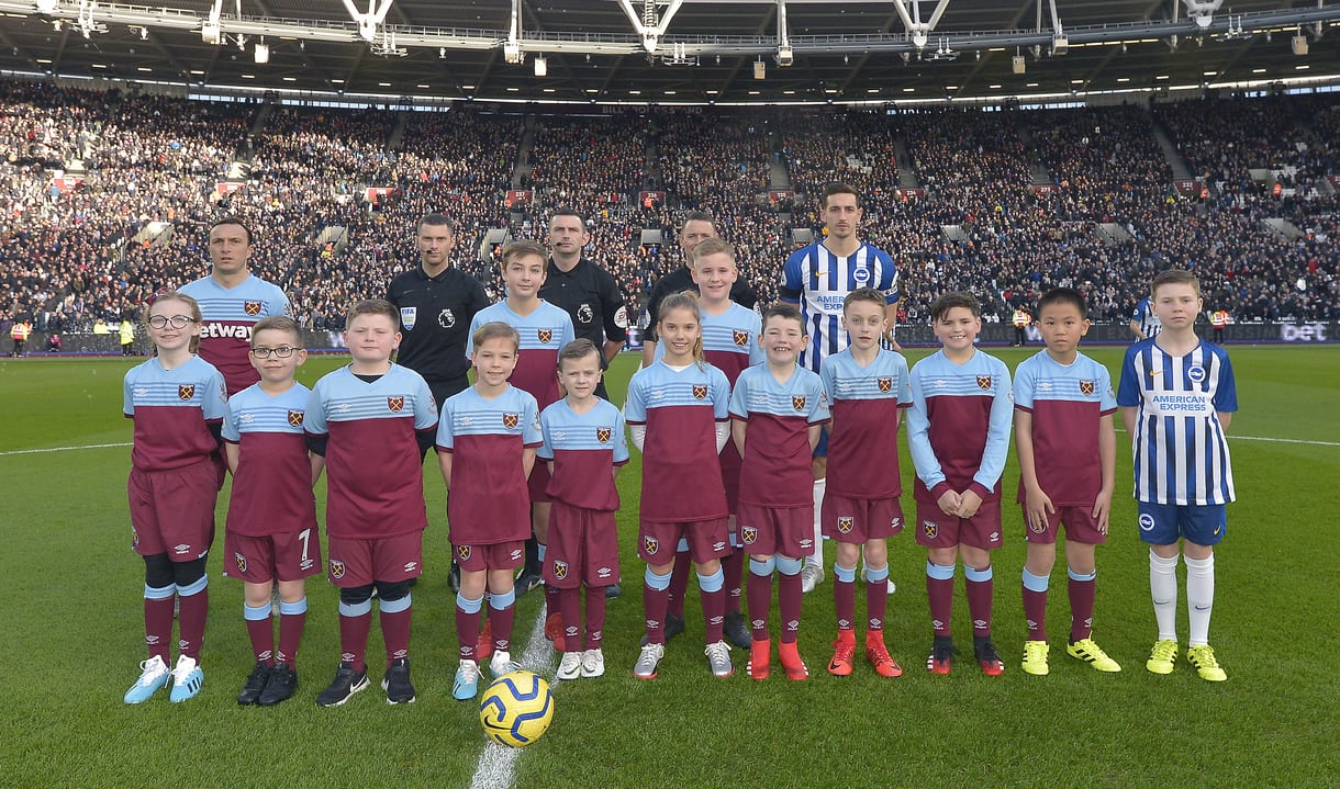 Mascots at London Stadium