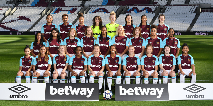 Image result for west ham ladies squad photo