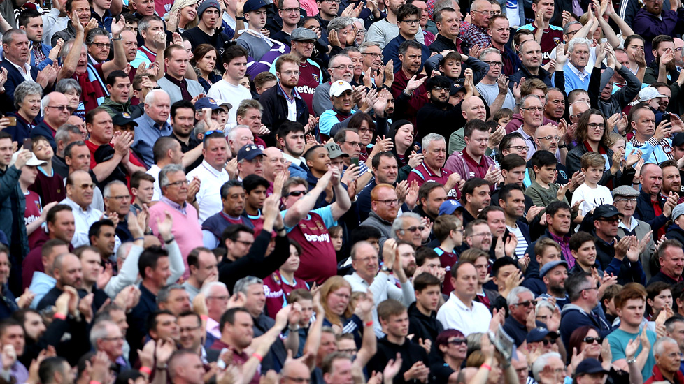 Hammers fans at London Stadium