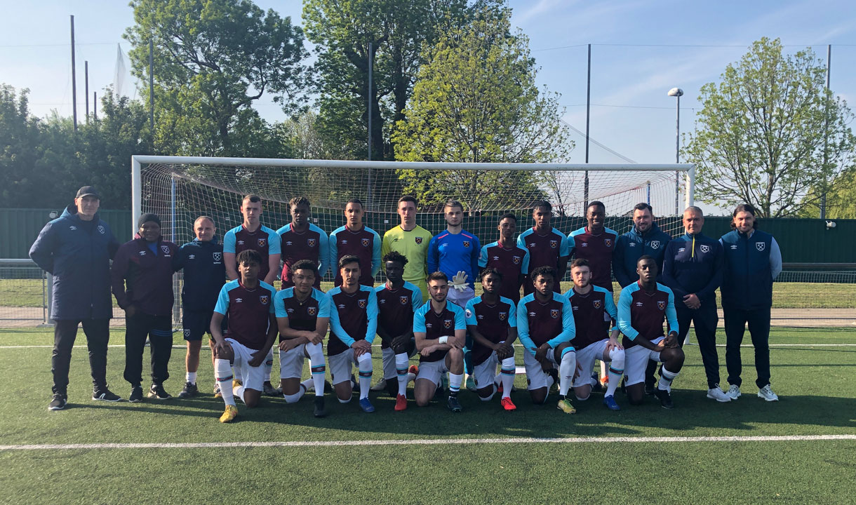 The West Ham United Second Chance Academy team
