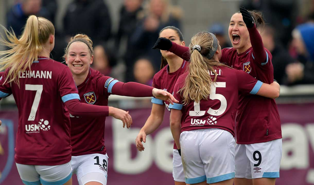 West Ham women celebrate