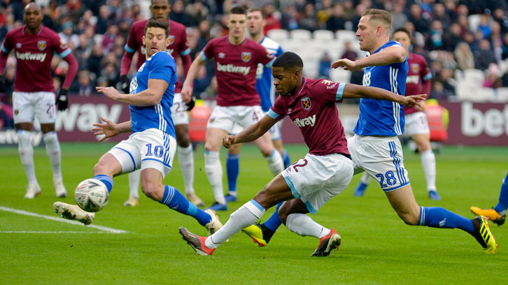 Xande Silva's early shot led to West Ham United's opening goal against Birmingham City