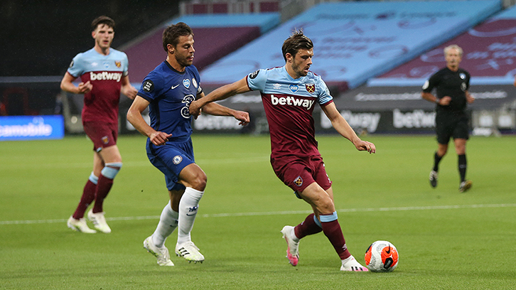 Aaron Cresswell against Chelsea