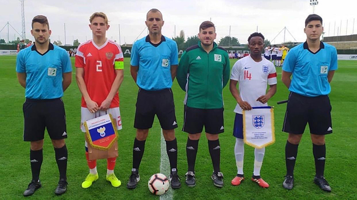 Amadou Diallo captains England U17s against Russia
