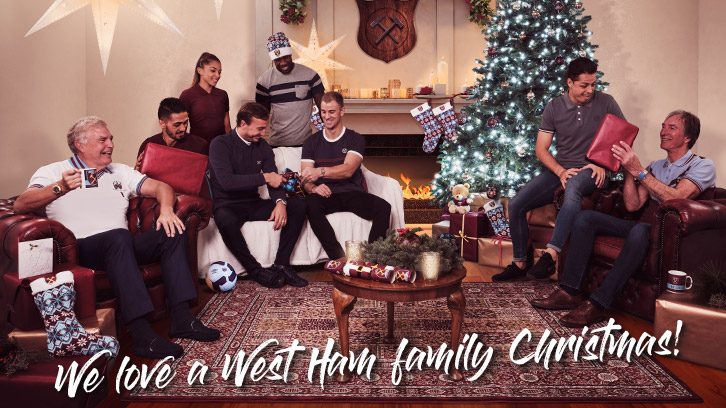 We love a West Ham family Christmas: Gift inspiration guide available now