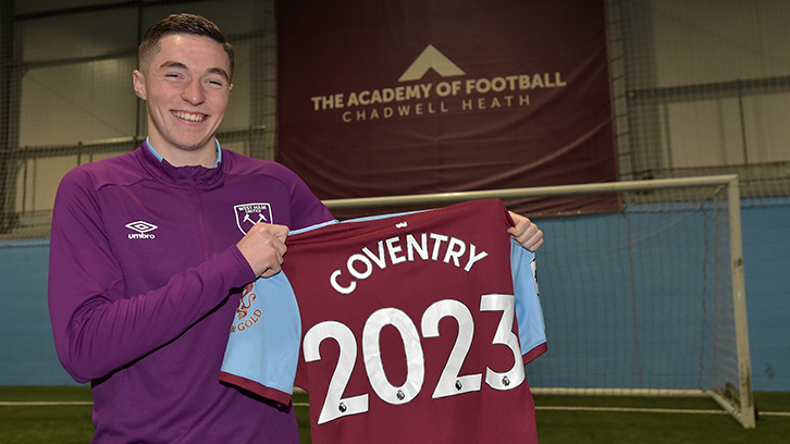 Conor Coventry has signed a new long-term deal at West Ham United