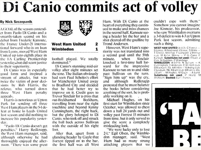 Di Canio commits act of volley