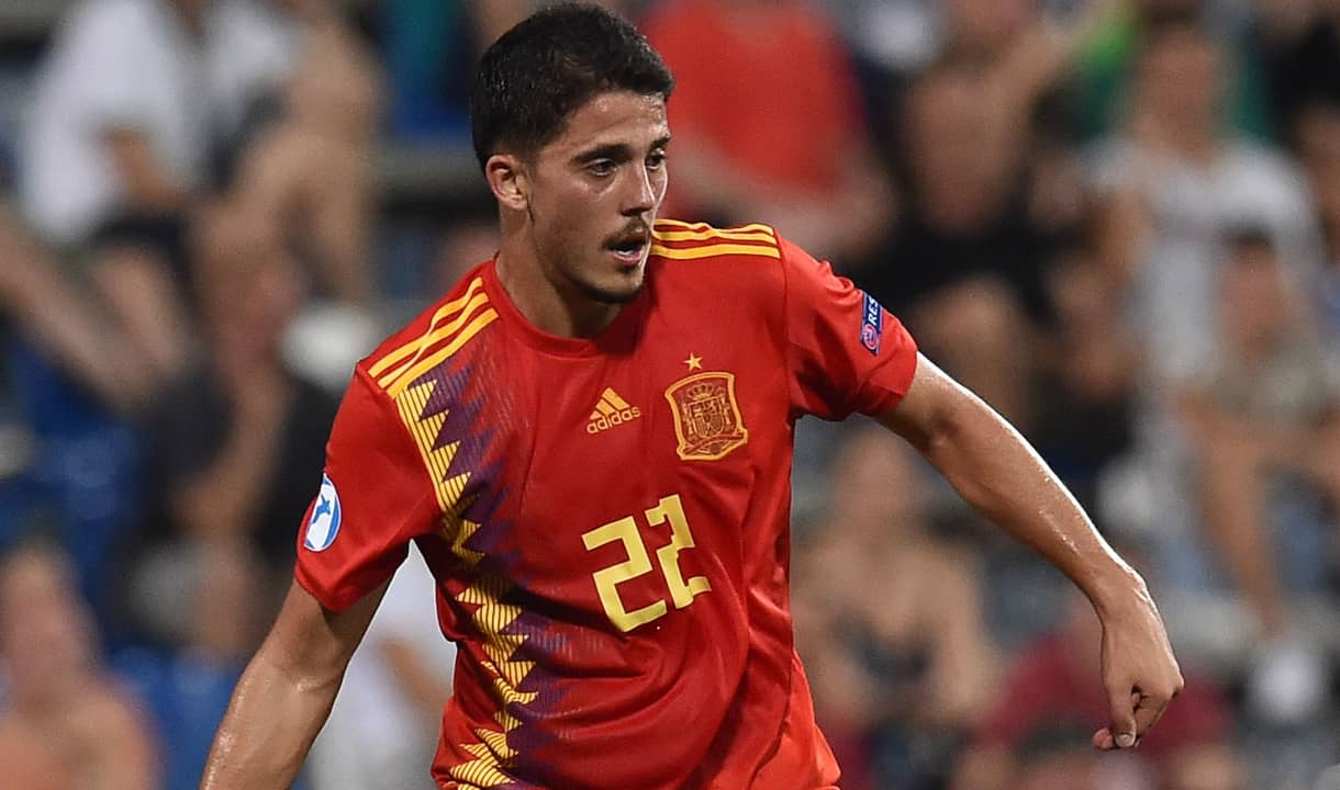 Pablo Fornals in action for Spain U21
