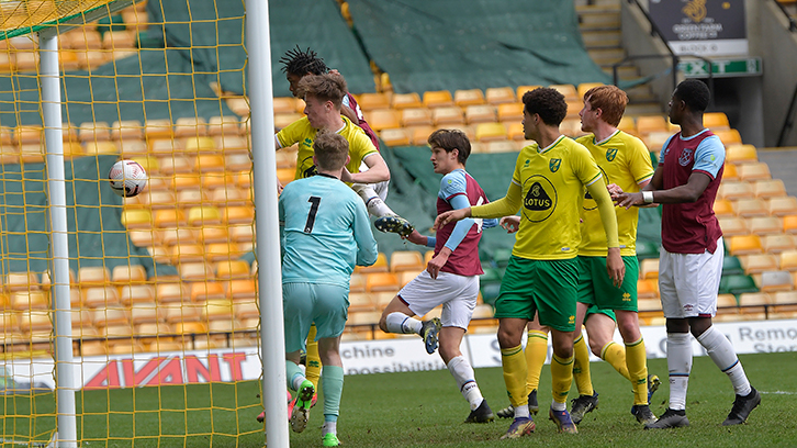 The U18 score at Carrow Road