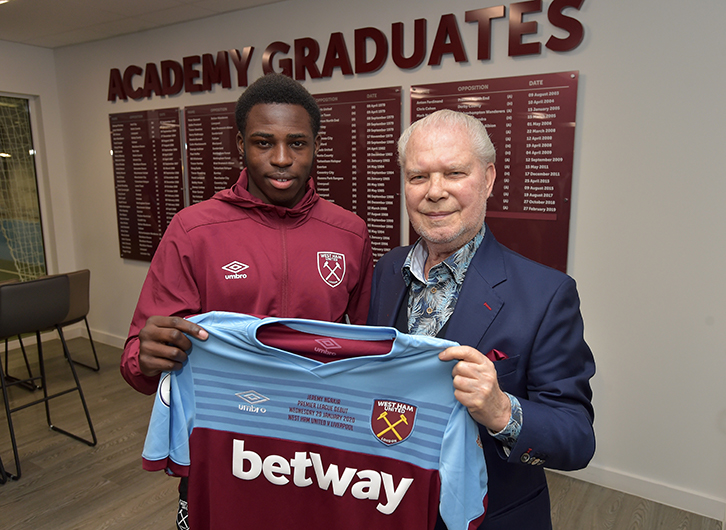 Jeremy Ngakia and West Ham United Joint-Chairman David Gold