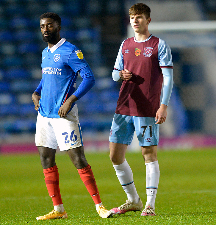 ​​Michael Forbes' West Ham Under-21s debut