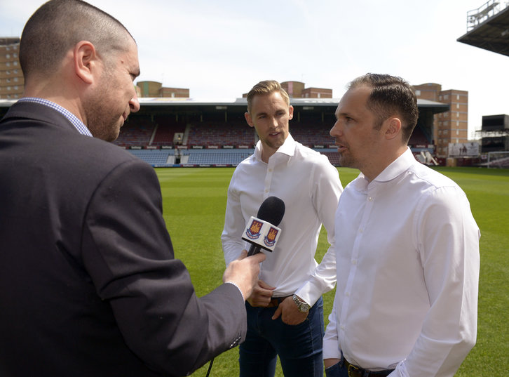 Matt Etherington is interviewed by West Ham TV on his return to the Club