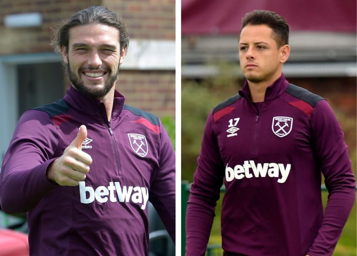Andy Carroll and Javier Hernandez