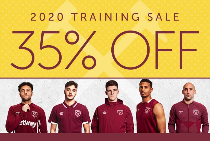 35 per cent off training wear