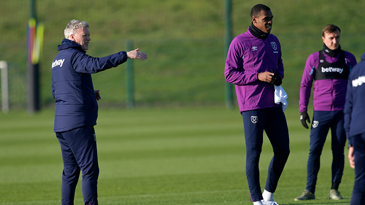 David Moyes in West Ham United training